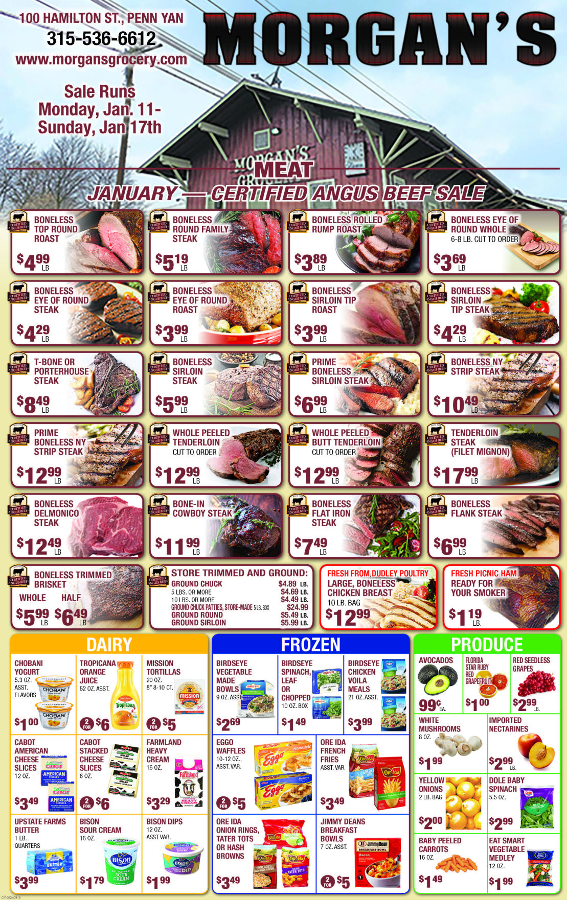 Morgans Grocery January specials